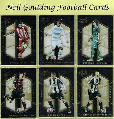 Panini BLACK GOLD 2016-2017 Premium Football/Soccer Trading Cards #1 to #162