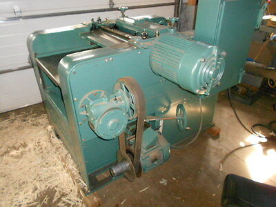 """Buss 24"""" x 8"""" Planer  Model 4L 3 ph 10 HP Variable Speed Feed, w Grinder, Wood"""