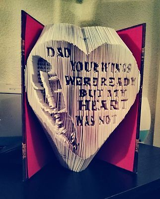 Dad Wings Quote. Folded Book Art Folding PATTERN ONLY #2122