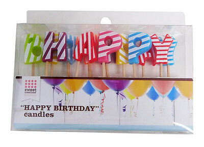 Good Cook Candle Pick Set - Happy Birthday - Striped