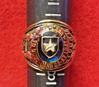 vn war decoration: S.VN ARMY MIL. POLICE RING/ GP 18K/ STAINLESS STEEL