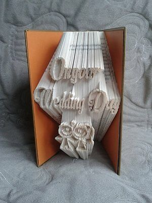 Wedding Day.  Folded Book Art Folding PATTERN ONLY #2575
