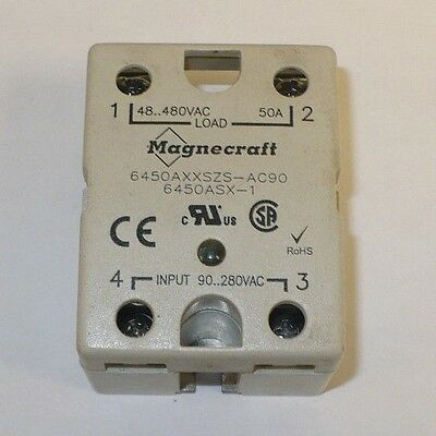 1 pc Magnecraft 6450AXXSZS-AC90 Panel Board Mount Solid State Relay, Used