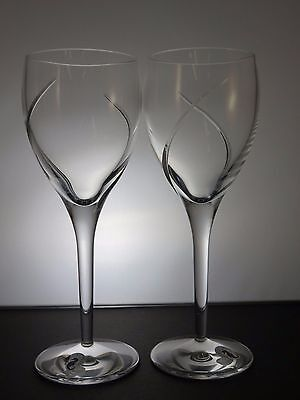Waterford Crystal Siren Pattern Red Wine Glasses set of 2- 23 cm-Boxed