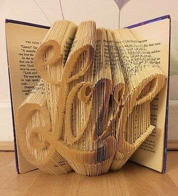 Love.  Folded Book Art Folding PATTERN ONLY #2596
