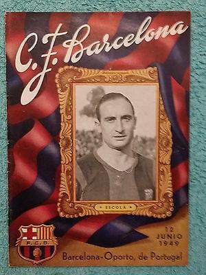 1949 - BARCELONA v PORTO PROGRAMME - FRIENDLY