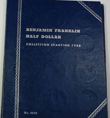 1948-1963 D Benjamin Franklin Half Dollar Complete Silver Coin Collection 9032