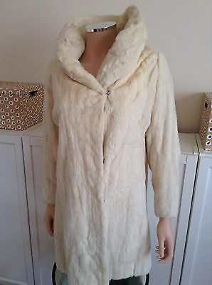 1920s VINTAGE REAL Cream Blonde ERMINE FUR COAT Harrods