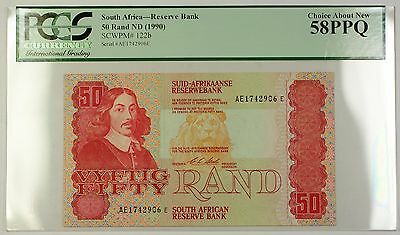 (1990) No Date South Africa 50 Rand Reserve Bank Note SCWPM# 122b Choice 58 PPQ