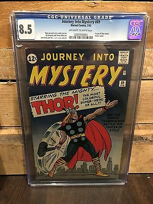 Journey Into Mystery #89 Cgc 8.5 Vf+ Origin Retold Cracked Case (Id 7586)