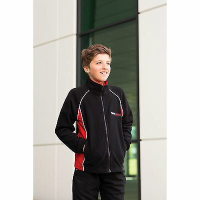 Finden And Hales New Kids Contrast Micro Fleece Jacket Contrast Panels Jackets