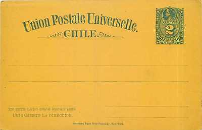 Entier Postal Stationary Chili Chile  2c