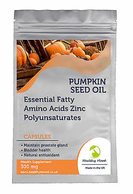 Pure Pumpkin Seed Oil 300mg 30/60/90/120/180 Capsules Health Food Supplements