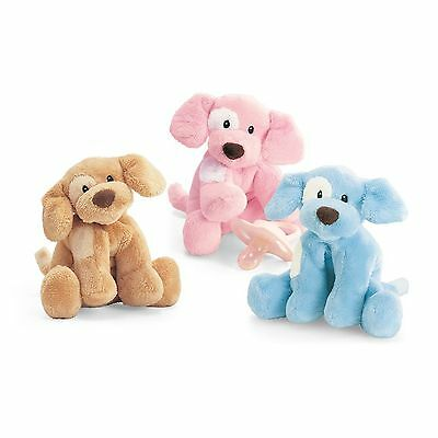 Blue Plush Baby Rattle Dog