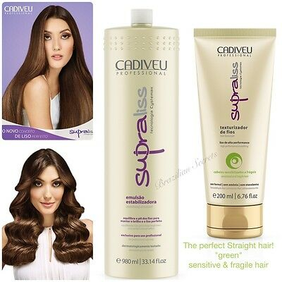 Cadiveu Supraliss Long Term Blow Dry Brazilian Hair Straightening Treatment Kit