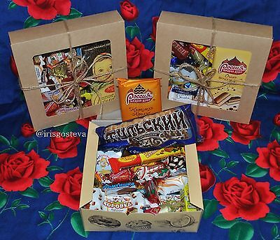 BEST Sweet set box of Russian Chocolate Candy Desserts Buscuits. Try it!
