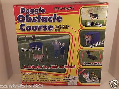 Dog Games Doggie Obstacle Course Agility Kit Complete Great for Beginners