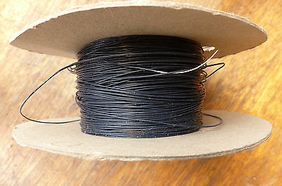 Silver Plated Copper PTFE Wire Cable 26AWG 0,4MM Black HQ 10 meters