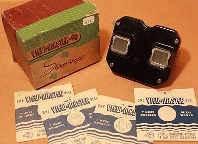 Vintage Sawyers View-Master Stereoscope Boxed with 4 x 3D Kodachrome Reels