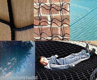 ALL SIZES pond / pool CHILD SAFETY NET black / blue super netting SOLD PER METRE