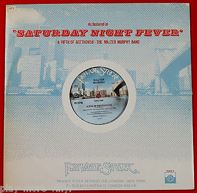"""WALTER MURPHY A 5th Of Beethoven 12"""" vinyl single record UK Private Stock  fifth"""
