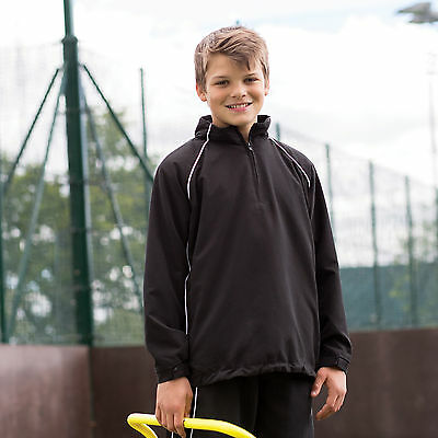 Finden And Hales Kids Team Overtop Showerproof Elasticated Cuffs Pocket Overtops