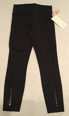 Lululemon Women Fast Free Tight Athletic Leggings Pants NULUX Black Size 8