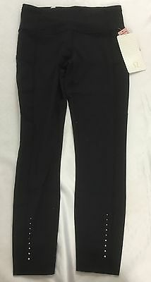 Lululemon Women Fast Free Tight Athletic Leggings Pants NULUX Black Size 6