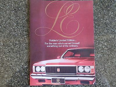 Holden 1976 Hx Le (Monaro) Sales Brochure  100% Guarantee.