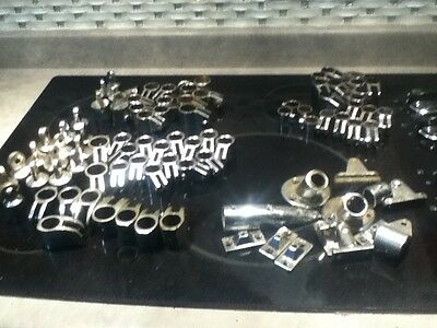 4-Bow-Bimini-Top-Stainless-Steel-Boat-Fittings-Many Assorted Sizes and Parts Lot