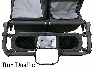 Double Stroller organizer for Bob Duallie, Baby Jogger City Mini GT, cup holder