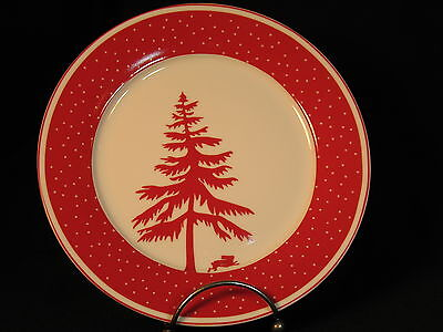 PC President's Choice Christmas Salad Side Bread Plate Tree Rabbit Hare