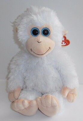 "Ty Classic IVORY the Monkey  11"" Plush w/ TAGS White TySilk 2011 Beanie Stuffed"
