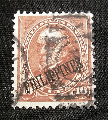 (F444) US Philippines overprint Webster 10c used NG