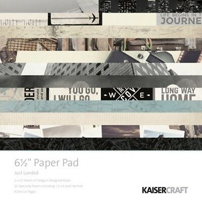 "Kaisercraft Just Landed 6.5"" Paper Pad (PP998)"