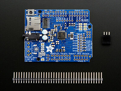 Adafruit Music Maker MP3 Shield for Arduino MP3/Ogg/WAV Audio Stereo Jack