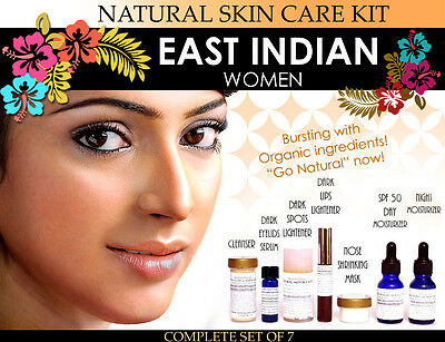 Natural Skin Care Kit for East Indian Women Features Lightening and Toning Set 7