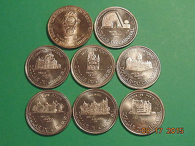 Lot Of 8  Quebec City Carnaval Coins , Nice And Big