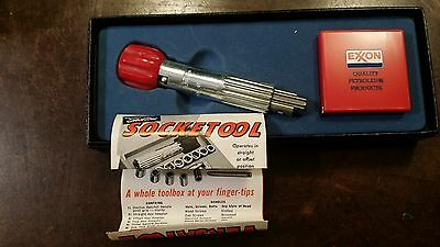 Vintage Shelton Socket Tool With Exxon Tape Measure Free Shipping