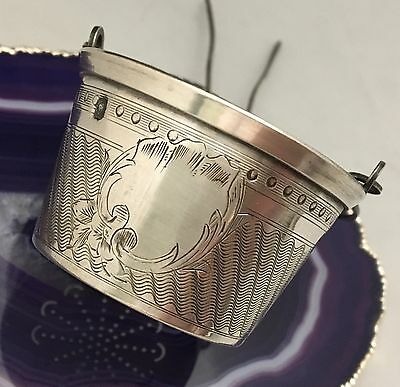 BEAUTIFUL Antique c1900 French Sterling Silver Tea Strainer Sieve Infuser - L532