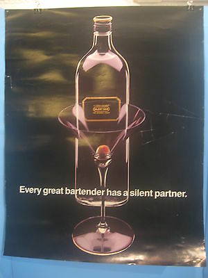 Vintage Silent Sam  Double-Sided Vodka Poster 1980's