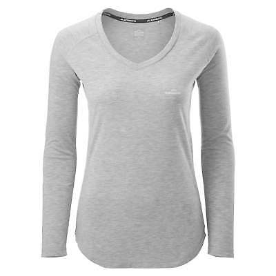 Kathmandu driMOTION Womens Long Sleeve Tee Active Gym Performance T-Shirt Grey