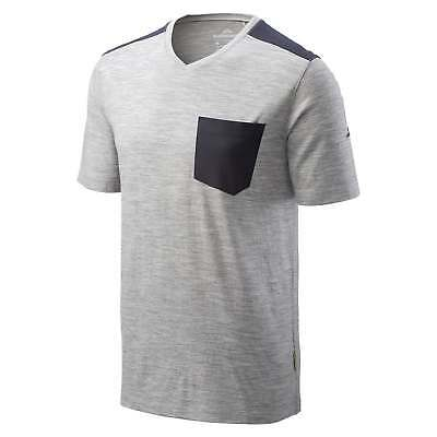 Kathmandu Federate Mens Merino Wool Tee Short Sleeve Casual T-Shirt Top Grey