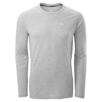 Kathmandu driMOTION Mens Long Sleeve Tee Active Gym Performance T-Shirt Grey