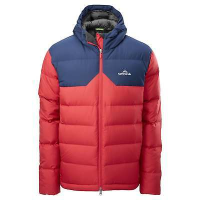 Kathmandu Epiq Mens Hooded Warm Winter Duck Down Puffer Jacket v2 Blue Red