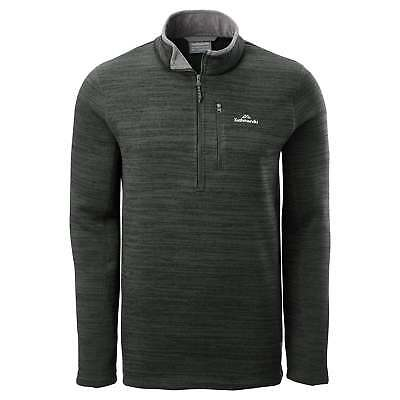 Kathmandu Aikman Mens 1/2 Zip Pullover High Neck Warm Casual Jumper Grey
