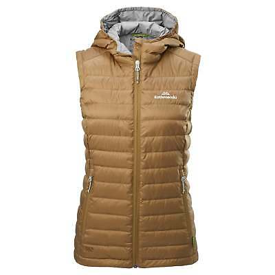 Kathmandu Heli Womens Lightweight Duck Down Warm Insulated Puffer Vest v2 Gold