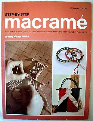 Step-By-Step MACRAME Mary Walker Phillips - 80 Page Paperback Knots Projects etc
