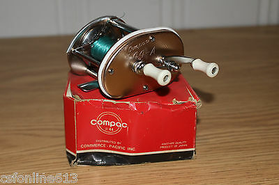 Vintage Compac 44-A Made In Japan Brass Fishing Reel