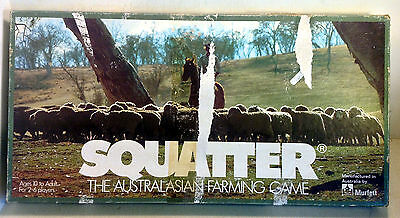 Vintage Board Game: Squatter, The Australasian Farming Game, Murfett, 1961(4758)